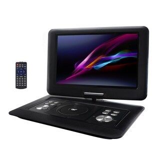 "Trexonic 14.1"" Portable DVD Player with TFT-LCD Screen and USB/SD/AV Inputs"