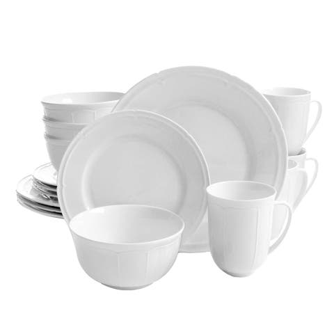 Gibson Home Paton 16-Piece Dinnerware Set in White
