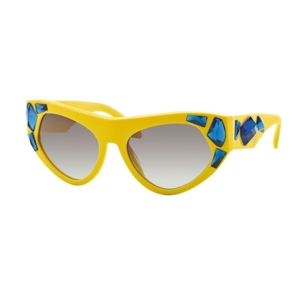 45076b3605 Shop Prada Women s Yellow Grey Gradient Sunglasses - Free Shipping Today -  Overstock - 23586386