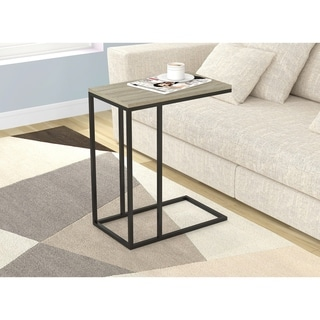 Link to Accent Table/End Table/End Night Stand/Bedside-Dark Taupe/Black Metal Similar Items in Living Room Furniture
