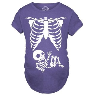 Maternity Skeleton Baby T Shirt Halloween Funny Pregnancy Tee