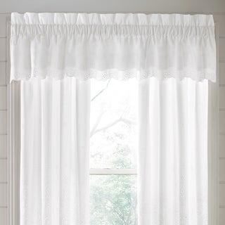 Five Queens Court Lola Eyelet Straight Window Valance