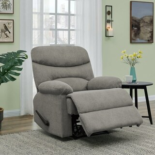 ProLounger Grey Chenille Wall Hugger Recliner Chair