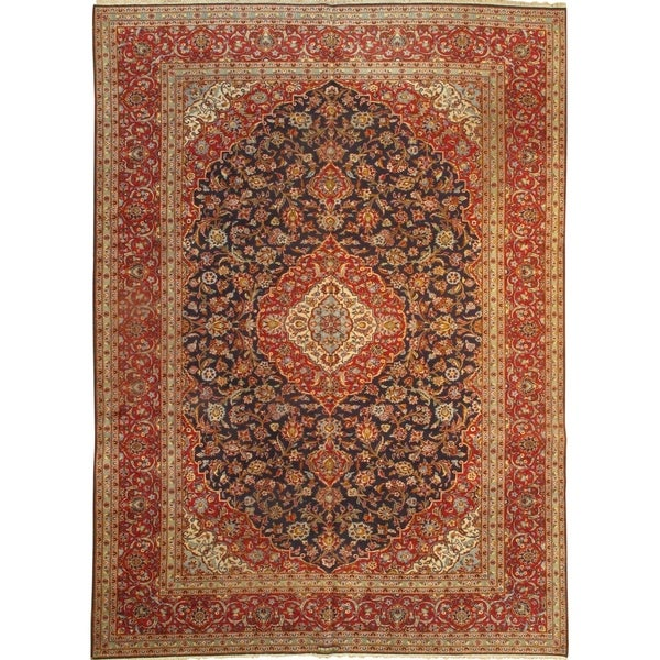 Persian Hand Knotted Kashan Silk And Wool Area Rug Ebth: Shop Pasargad DC Persian Kashan Hand Knotted Lamb's Wool