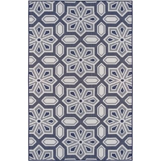 Tori Home Navy (5'x8') Indoor / Outdoor Rug - 5' x 8'