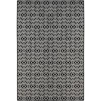 Monroe Home Black (8'x10') Indoor / Outdoor Rug - 8' x 10'