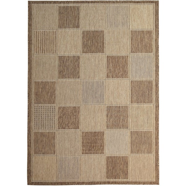 Lylah Home Taupe (8'x10') Indoor / Outdoor Rug - 8' x 10'