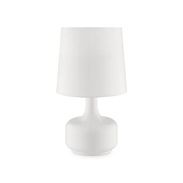 Ok Lighting Cheru White Table Touch Lamp