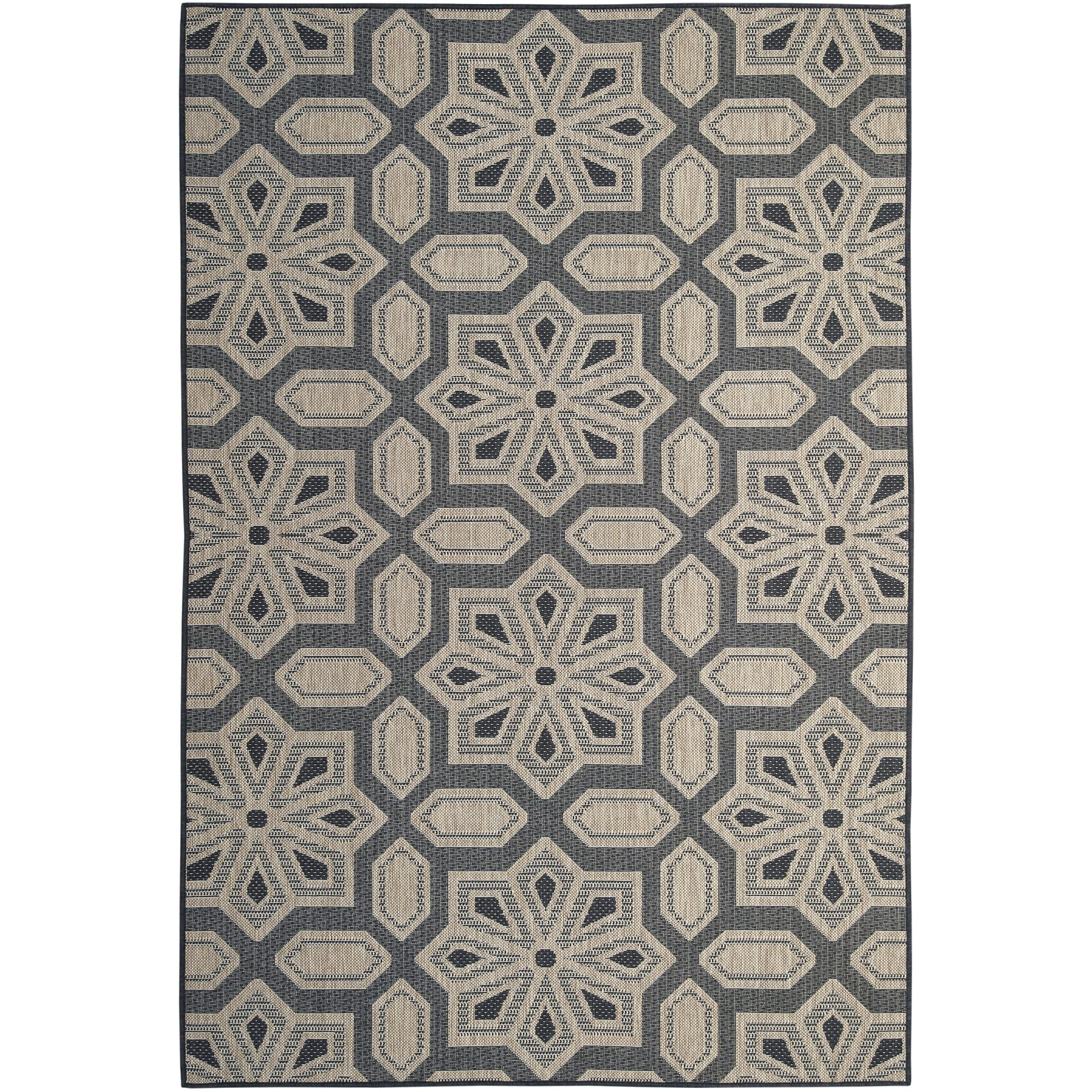 Tori Home Charcoal 5 X8 Indoor Outdoor Rug 5 X 8