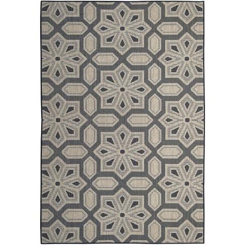Tori Home Charcoal (5'x8') Indoor / Outdoor Rug - 5' x 8'