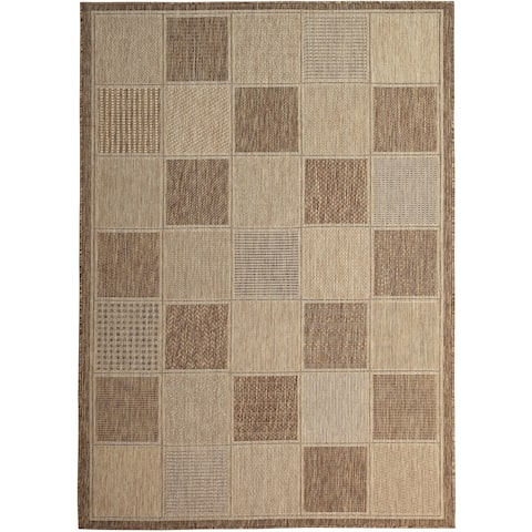 Lylah Home Taupe (5'x8') Indoor / Outdoor Rug - 5' x 8'