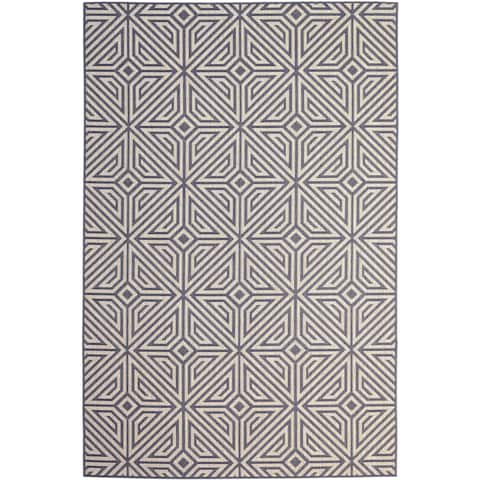 Jayde Home Charcoal (5'x8') Indoor / Outdoor Rug - 5' x 8'