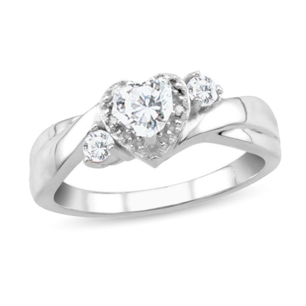 581e96d3da6017 Shop 10K White Gold Genuine Birthstone Ring with Diamond Accent - On ...