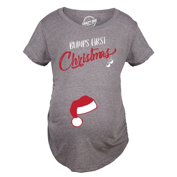 60445538505 Shop Bumps First Christmas Maternity TShirt Funny Holiday Party Tee - On  Sale - Free Shipping On Orders Over  45 - Overstock - 23587481