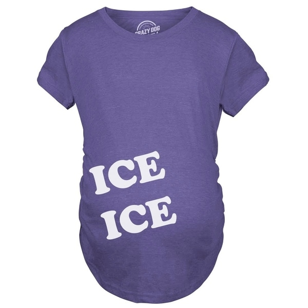 e1328a4c812be Shop Maternity Ice Ice Pregnant Tee Novelty Baby Bump T shirt - Free  Shipping On Orders Over $45 - Overstock - 23587768