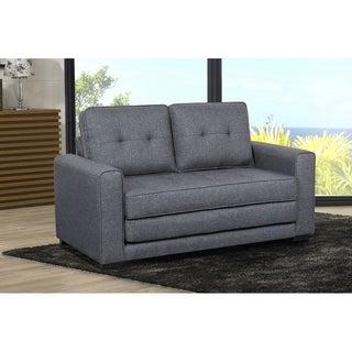Daisy Modern Fabric Loveseat and Sofa Bed