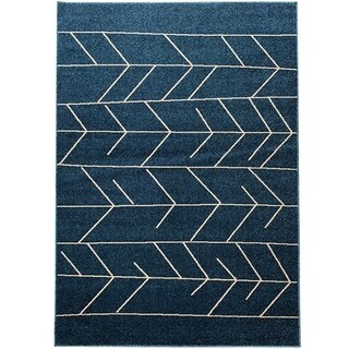 "Geometric Trellis Pattern Area Rugs, Pierre Cardin Collection - 5'2"" x 7'3"""