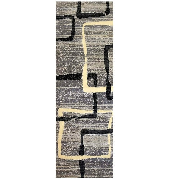 "Geometric Trellis Pattern Area Rugs, Pierre Cardin Collection - 2'3"" x 4'7"""