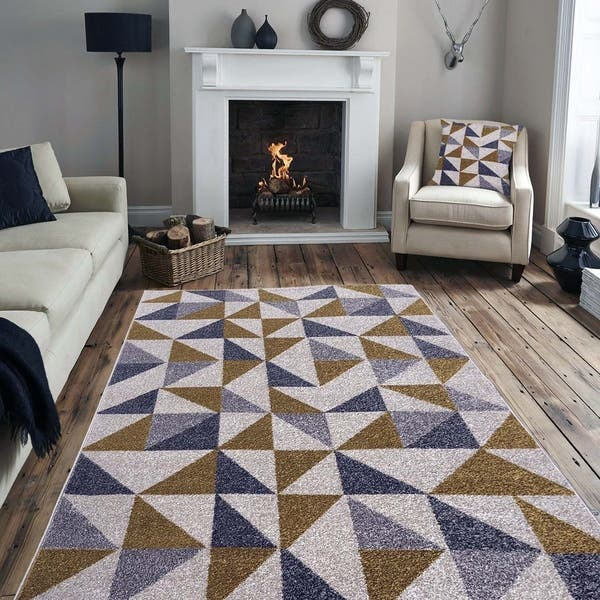 Geometric Trellis Pattern Area Rugs