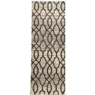 "Geometric Trellis Pattern Area Rugs, Pierre Cardin Collection - 2'7"" x 4'11"""