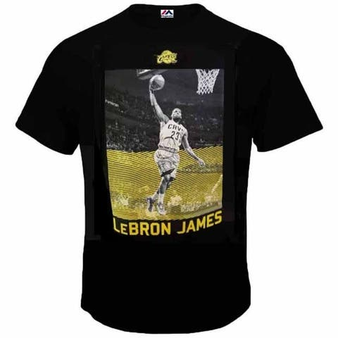 Majestic Youth Throwback Lebron James Focus T - Large - Black