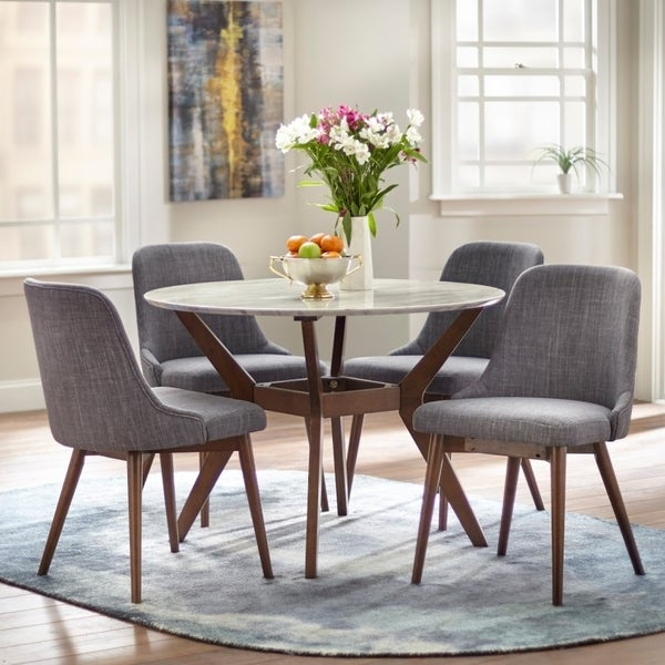 Round Dining Tables For 10: Shop Carson Carrington Tornio Round Dining Set