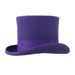 Ferrecci Mens Ultra Violet Premium Wool Mad Hatter Steampunk Top Hat