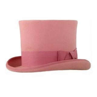 Ferrecci Mens Pink Premium Wool Mad Hatter Steampunk Top Hat