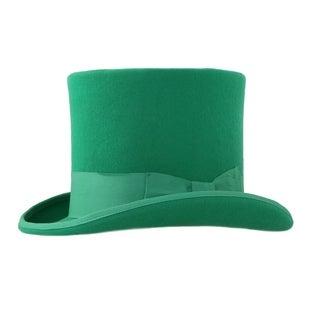 Ferrecci Mens Green Premium Wool Mad Hatter Steampunk Top Hat