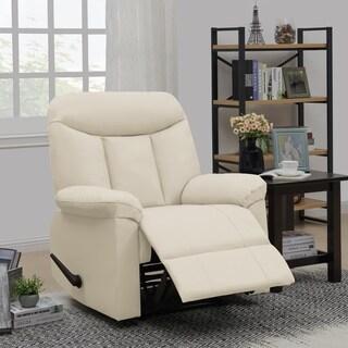 ProLounger Almond PU Wall Hugger Recliner Chair