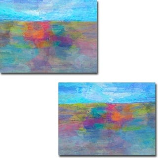 Horizon I and II by Michael Tienhaara 2-piece Gallery Wrapped Canvas Giclee Art Set (Ready to Hang)