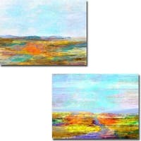 Visions I and II by Michael Tienhaara 2-piece Gallery Wrapped Canvas Giclee Art Set (Ready to Hang)