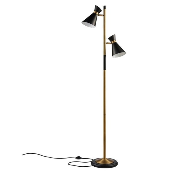 3655b20b7f5 Shop Versanora - Harper Floor Lamp - Black Antique Brass - On Sale - Free  Shipping Today - Overstock - 23589664