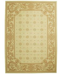 Safavieh Beaches Natural/ Terracotta Indoor/ Outdoor Rug - 8' x 11'
