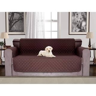 Chiara Rose Reversible Water Resistant Sofa Loveseat Armchair Slipcover Quilted Furniture Protector