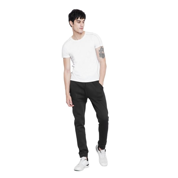 Black Joggers Pants Mens Fleece Everyday Casual Fashion Gym Tracksuits