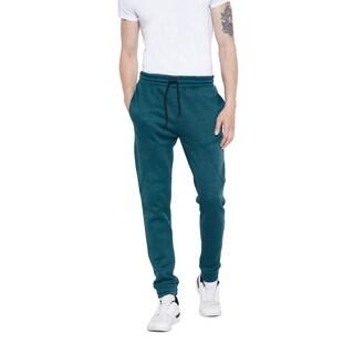 Blue Foama Fleece Mens Trousers Sports Fit Pants Long Jogging Joggers