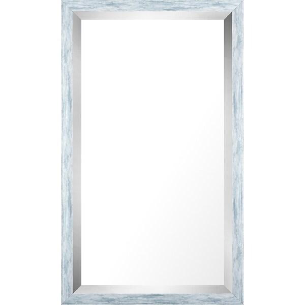 17.75x29.75 Pastel Blue Wash Mirror Bevel Mirror by Mirrorize Canada