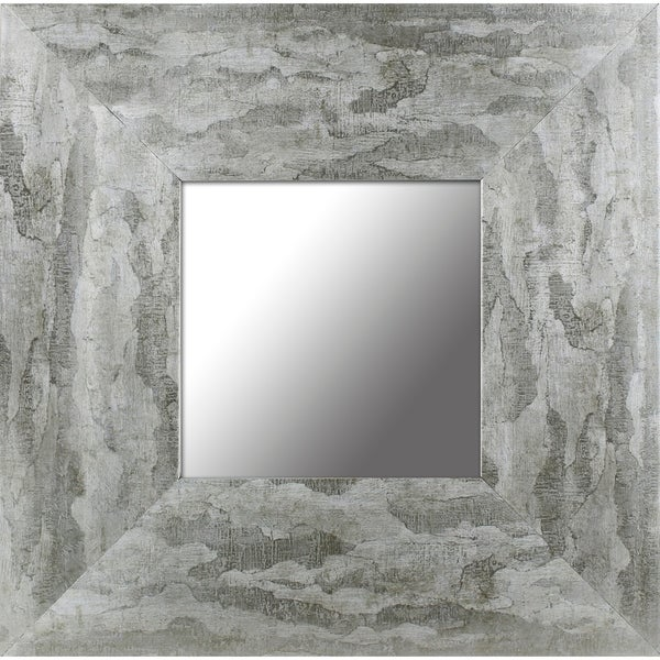 12.5x12.5 Set of 4, Silver Leaf Gradient Frame Accent Mirror by Mirrorize Canada