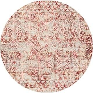 Empire Red Marrakesh Round Rug - 8'10