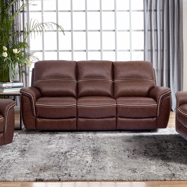 Mason White Leather Sofa: Shop Mason Leather Reclining Sofa With Power Headrest And