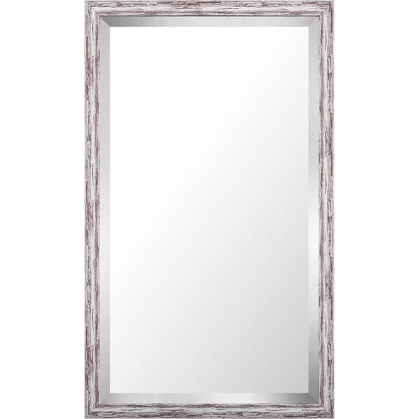 17.75x29.75 Pastel Gray Wash Mirror Bevel Mirror by Mirrorize Canada - Grey