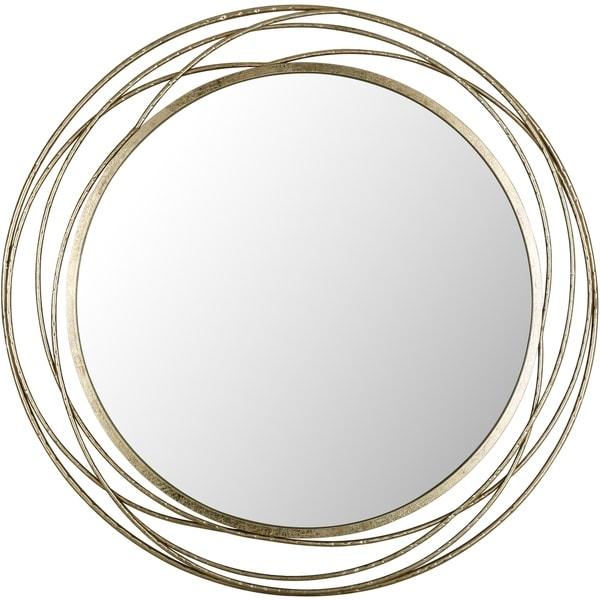 Dia: 35.5 Round Metal Mirror Plain Mirror by Mirrorize Canada - Brown