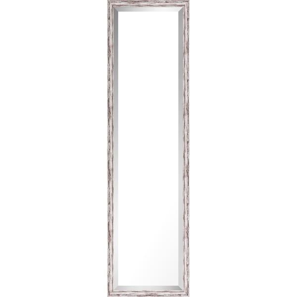 13.75x49.75 Pastel Gray Wash Mirror Bevel Mirror by Mirrorize Canada - Grey