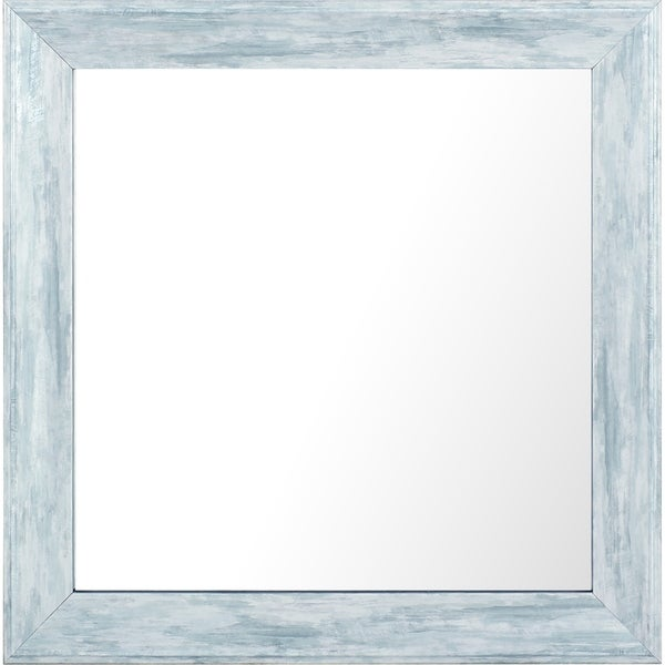 10.25x10.25 Set of 4, Pastel Blue Wash Plain Mirror by Mirrorize Canada