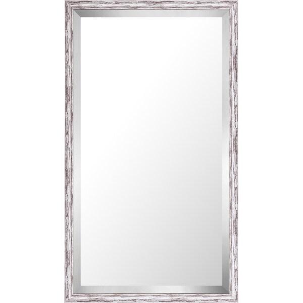 21.75x37.75 Pastel Gray Wash Mirror Bevel Mirror by Mirrorize Canada - Grey