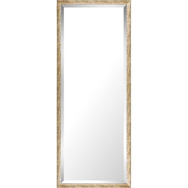 19.75x49.75 Gold Wash Mirror Bevel Mirror by Mirrorize Canada