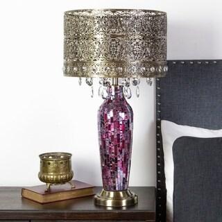 """25""""H Bohemian Bazaar Mosaic Table Lamp"""