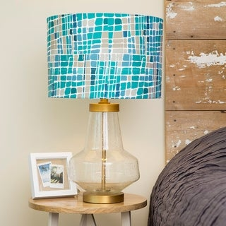 """Link to 24""""H Kris Ruff by River of Goods Berkeley Glass Table Lamp - 15""""L x 15""""W x 24.5""""H Similar Items in Table Lamps"""