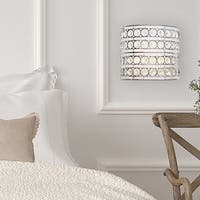 """Set-of-2 - 8""""H Crystal Glam Doll Cordless LED Wall Sconce"""